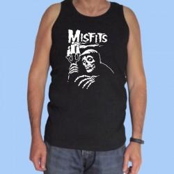 Camiseta sin mangas hombre MISFITS - LOGOTIPO BLANCO