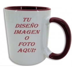 Taza con interior y asa de color