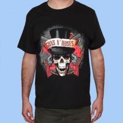 Camiseta GUNS N ROSES - Logo chistera