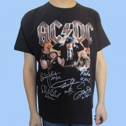 Camiseta AC/DC - Firmas