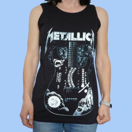 "Camiseta unisex sin mangas METALLICA - Guitarra ""Ouija"" de Kirk Hammett"
