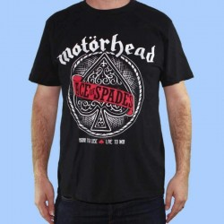 Camiseta MOTORHEAD - Ace of Spades logo rojo