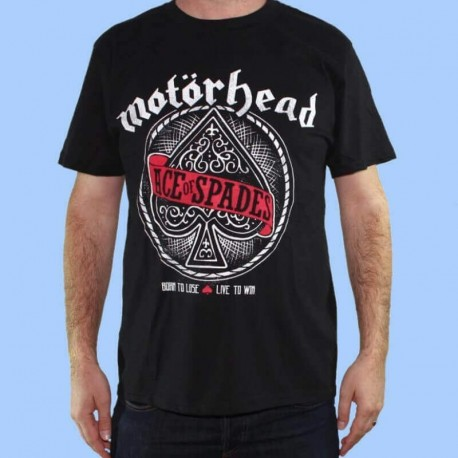 Camiseta MOTORHEAD - Ace of Spades logo rojo