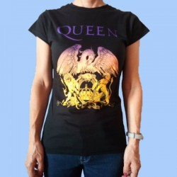 Camiseta mujer QUEEN - Logo blasón