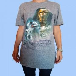 Camiseta STAR WARS - DROIDS D2-R2 y C-3PO Episodio VIII - Los últimos Jedi