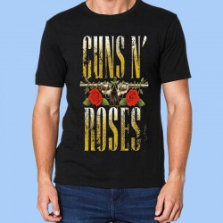 Camiseta GUNS N´ROSES - Logotipo rayado