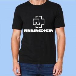 Camiseta RAMMSTEIN - Logotipo blanco