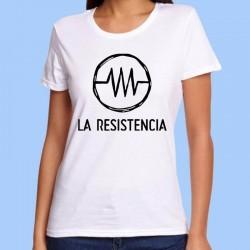 Camiseta blanca mujer LA RESISTENCIA