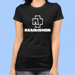 Camiseta mujer RAMMSTEIN - Logotipo blanco