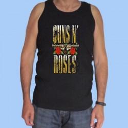 Camiseta sin mangas hombre GUNS N ROSES - Logotipo rayado vintage