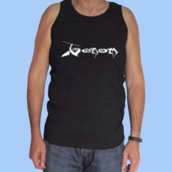 Camiseta sin mangas hombre VENOM - Logotipo blanco