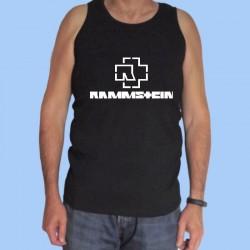 Camiseta sin mangas hombre RAMMSTEIN - Logotipo blanco