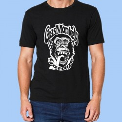 Camiseta hombre GAS MONKEY - Logotipo blanco