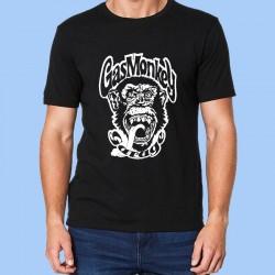 Camiseta hombre GAS MONKEY - Logotipo blanco