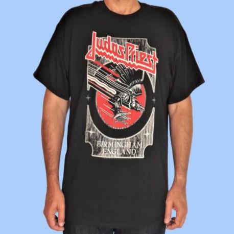 Camiseta JUDAS PRIEST - Vengeance plata & rojo