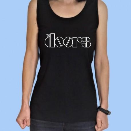 Camiseta sin mangas mujer THE DOORS - Logotipo blanco