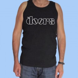Camiseta sin mangas hombre THE DOORS - Logotipo blanco