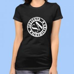 Camiseta mujer SOZIEDAD ALKOHOLIKA (S.A.)  Logotipo blanco